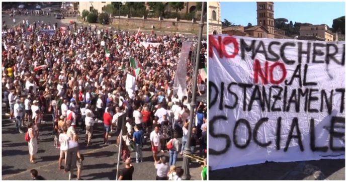 In Bielorussia si manifesta per la libertà, a Roma contro la dittatura sanitaria: ironie di regime!