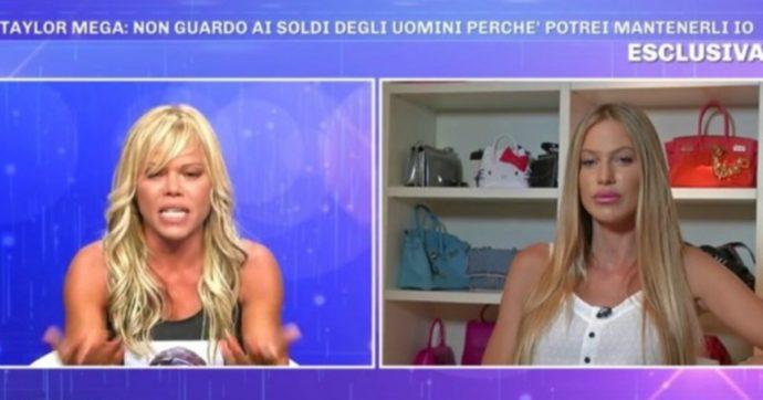"""Pomeriggio 5, scontro tra Taylor Mega e Floriana Secondi: """"Ricca coatta, sai perché sei antipatica?"""""""