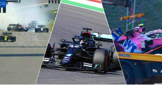 F1, che esordio al Mugello: gara interrotta due volte, poi vince sempre Hamilton. Le Ferrari sprofondano nel millesimo Gp