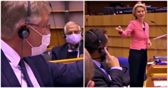"""L'eurodeputato di estrema destra interrompe von der Leyen ma lei lo zittisce: """"Predicate l'odio"""""""