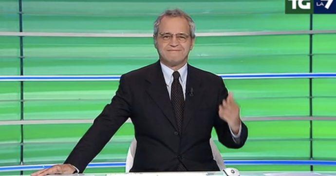 """Enrico Mentana: """"Non ci mettiamo la mascherina perché ci sta sulle scatole Conte o siamo all'opposizione? Va messa e basta"""""""