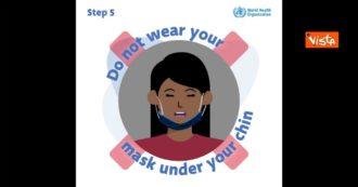 Ecco i sette errori che non dovresti fare quando indossi una maschera: il video spot dell'OMS