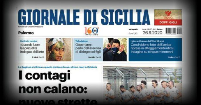 Giornale di Sicilia, comunicato dimezzamento di organico e stipendi da novembre
