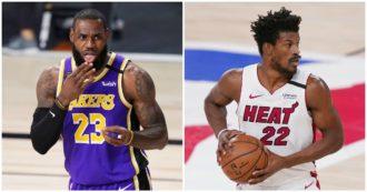 Nba, inizia la sfida tra Lakers e Heat: ecco 10 curiosità dell'inedita finale, dalle statistiche di James alle videocassette di coach Spoelstra