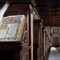"""Firenze, Biblioteca Medicea Laurenziana, """"la navicella del mio ingegno"""" (Purgatorio I, 2) nel prestigioso manoscritto Tempi 1, c. 32r"""