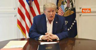 """Trump pubblica un video girato in ospedale: """"Sto molto meglio, torno presto per la campagna elettorale. Dovevo espormi al virus"""""""