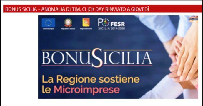 Bonus Sicilia, dopo il flop la Regione annulla il nuovo click day. I contributi per le piccole aziende ora saranno erogati a pioggia