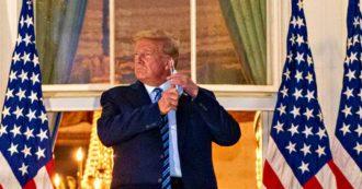 """Donald Trump torna alla Casa Bianca e toglie la mascherina: """"Mi sento più forte di 20 anni fa"""". Ma è ancora positivo e in pericolo"""