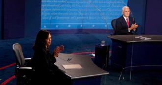 """Harris contro Pence, nel dibattito tra vice è scontro sul Covid. La senatrice dem attacca: """"Avete mentito"""". Il numero due di Trump nega"""