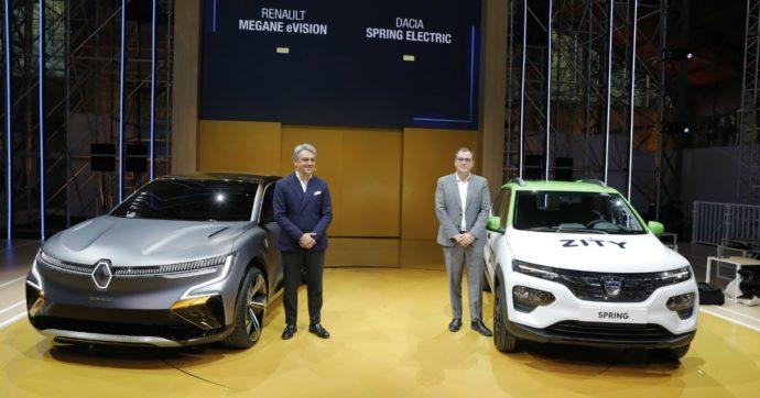 """Renault, De Meo: """"E' in arrivo una nuova generazione di veicoli elettrici"""". Svelate Renault Mégane eVision e Dacia Spring"""