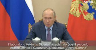 """Coronavirus, Vladimir Putin: """"Abbiamo un secondo vaccino. Si chiama EpiVacCorona """". La dichiarazione dopo una riunione ministeriale"""
