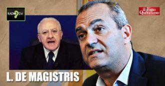 """De Magistris: """"Ordinanza De Luca? Un modo per nascondere suo fallimento, alzare bandiera bianca. Siamo verso lockdown"""""""