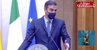 """Recovery Fund, Sanchez: """"Non rifiutiamo prestiti, vogliamo gestirli al meglio. Mes? Ora la Bce ci aiuta comprando debito pubblico"""""""