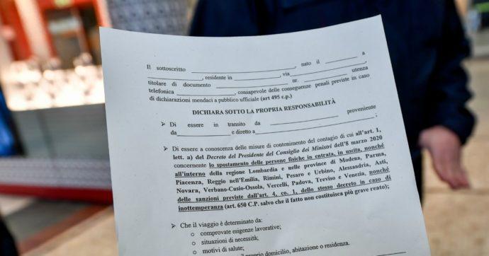 """Multe da 2mila euro per chi ha mentito sull'autocertificazione: arrivano le prime condanne penali per i """"furbetti"""" di marzo"""