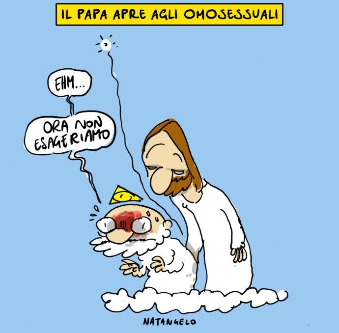 Il papa apre ai gay