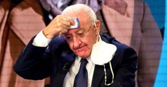"""Covid Campania, De Luca: """"Serve lockdown nazionale, il governo in ritardo"""". E chiude gli asili. Richiamati gli anestesisti in pensione"""