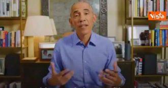 """""""Ho scelto Biden e Harris, votate"""": l'appello di Obama con le istruzioni per l'urna"""