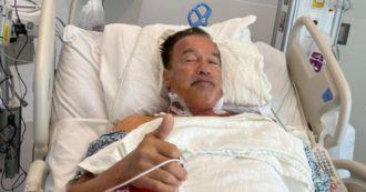 Arnold Schwarzenegger operato al cuore: l'annuncio ai fan dal letto dell'ospedale