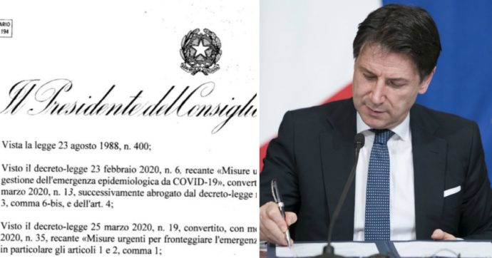 Covid, ecco il nuovo dpcm firmato dal premier Giuseppe Conte – IL TESTO INTEGRALE