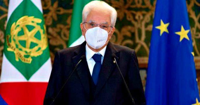 """Il presidente Sergio Mattarella: """"Ricerca antidoto alle false notizie. Il vero nemico di tutti e ciascuno è il virus"""""""