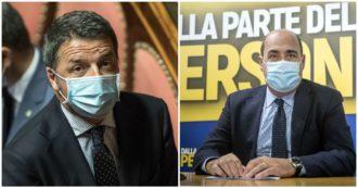 Renzi supera il centrodestra: 'Riaprire tutto'. Zingaretti: 'Eticamente intollerabile avere piedi in due staffe. Nemico è virus, non le regole'