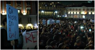 """Napoli, migliaia di commercianti e cittadini in piazza: """"Subito gli aiuti e stop alle tasse, sennò moriamo di fame"""". Applausi alla polizia. Il video"""