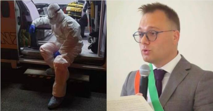 """Il sindaco-soccorritore di Cellamare e la sua foto 'stremato' dopo il turno: """"Ho visto pazienti soffrire e aver paura di non vedere più i cari"""""""