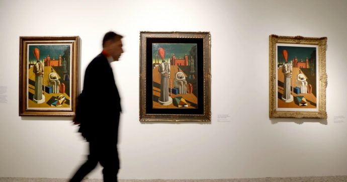 """Nuovo record mondiale per De Chirico: il suo dipinto """"Il pomeriggio di Arianna"""" venduto all'asta di New York a 15,9 milioni di dollari"""