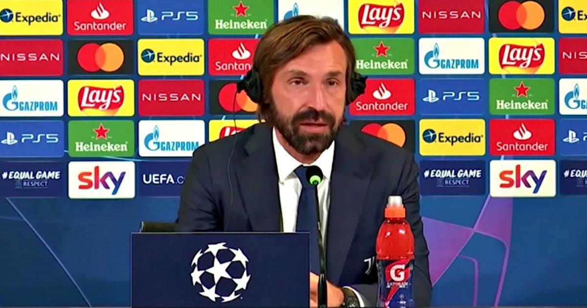 """La Juventus non può nulla contro il Barcellona, Pirlo: """"Molti giocatori al  debutto in Champions, eravamo contati"""" - Il Fatto Quotidiano"""