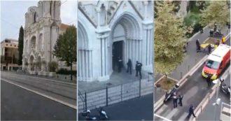 Attentato a Nizza, uccise tre persone nella cattedrale. I primi video dal luogo dell'attacco: le grida, l'irruzione della polizia e i soccorsi ai feriti