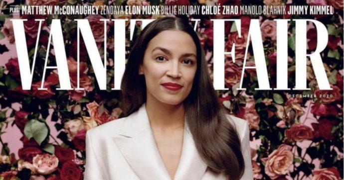 """Alexandria Ocasio-Cortez, la giovane democratica in copertina su Vanity Fair. Scoppia la polemica: """"Quei vestiti valgono 14mila dollari"""""""