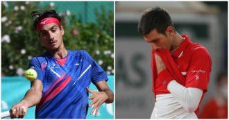 Lorenzo Sonego batte Novak Djokovic nei quarti del torneo di Vienna: il numero uno al mondo piegato con un secco 6-2 6-1