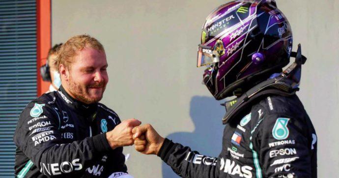 Formula 1, le Mercedes in prima fila nel Gran Premio dell'Emilia-Romagna: Bottas davanti a Hamilton. Settimo Leclerc, Vettel fuori in Q2