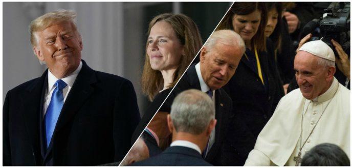 Usa 2020, voto cattolico spaccato. Contro la giudice fondamentalista di Trump, Biden si gioca la carta del Papa