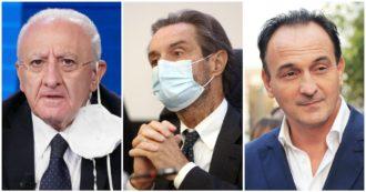 """Le capriole di Fontana e degli altri governatori su zone rosse e criteri: prima era """"competenza del governo"""", ora è """"inaccettabile"""""""