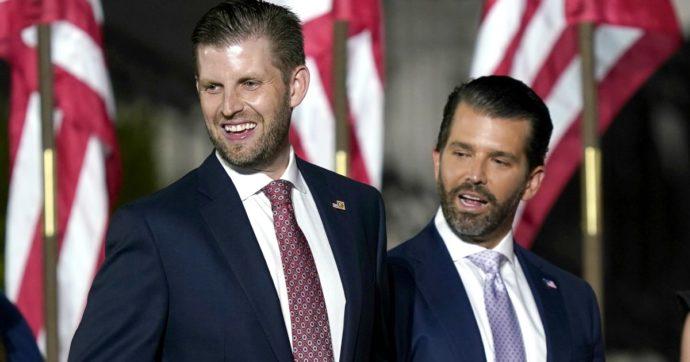 """Elezioni Usa 2020, i figli di Trump attaccano i repubblicani perché non sostengono il padre: """"Non siate pecore"""""""