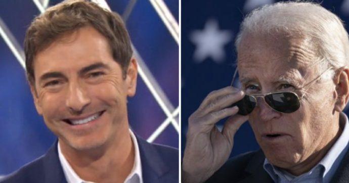 La triste storia di come la tv italiana si è persa l'elezione di Joe Biden presidente (a parte Marco Liorni)