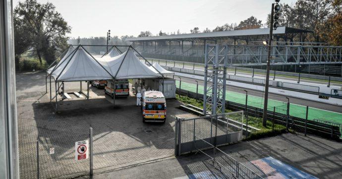 L'autodromo di Monza diventa un check-point per ambulanze e triage in tempo di Covid