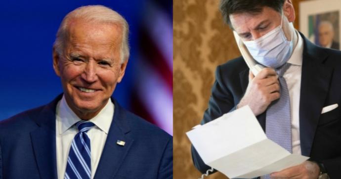 """La telefonata tra Conte e Biden: """"Fortissima volontà di collaborare nelle sfide globali"""". L'intesa su sviluppo più equo e clima"""