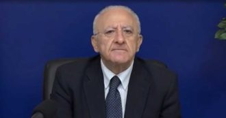 """Campania zona rossa, De Luca spara contro l'esecutivo: """"Fatti salvi tra o quattro ministri questo non è un governo"""""""