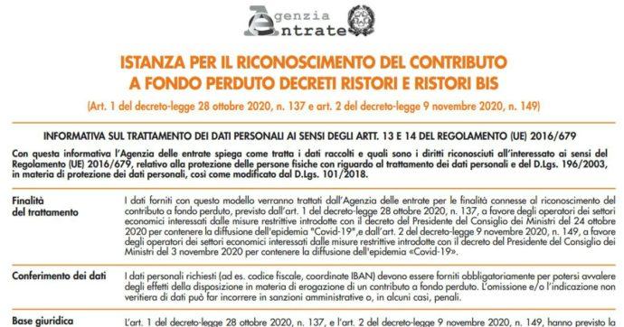 Ristori, via libera all'invio delle richieste sul sito dell'Agenzia delle entrate: c'è tempo fino al 15 gennaio. La guida