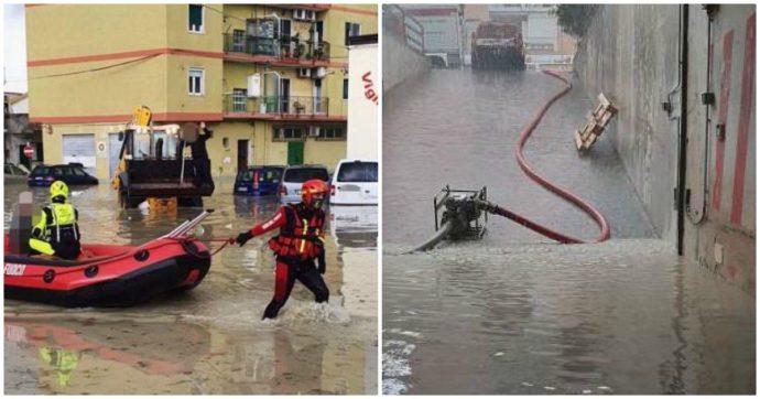 """Maltempo, violento nubifragio su Crotone: strade allagate e persone bloccate in auto. """"La nostra città è in ginocchio, restate in casa"""""""