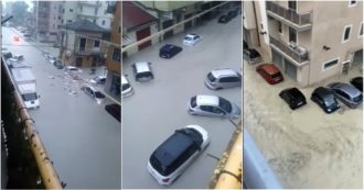 Crotone, violento nubifragio su tutta la provincia: strade come fiumi, case allagate e auto sott'acqua