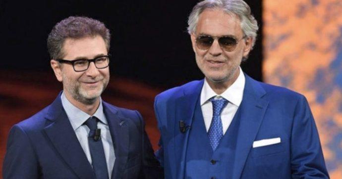 """Andrea Bocelli risponde a Fabio Fazio: """"Io negazionista? Il mio era un altro tipo di messaggio"""""""