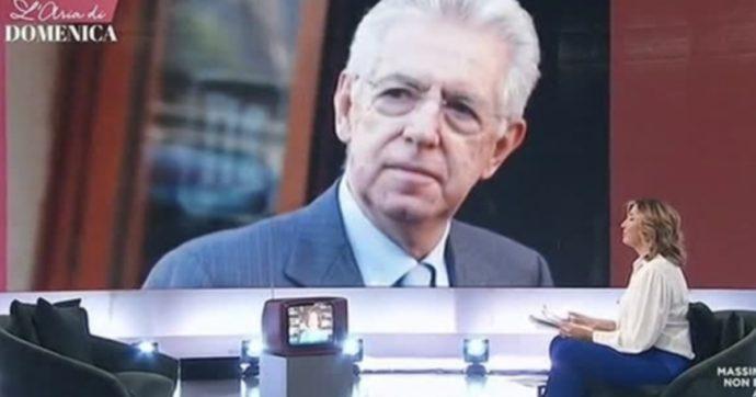 Mario Monti telefona in diretta e interrompe Elsa Fornero: Myrta Merlino basita