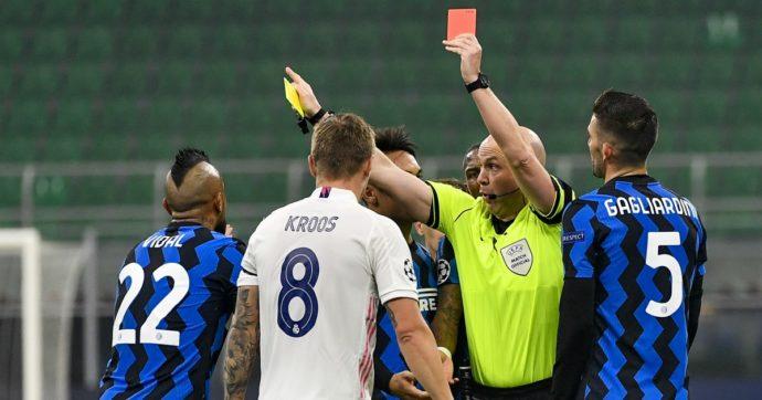 Inter – Real Madrid 0 a 2: gli spagnoli si divertono, Vidal si fa espellere per proteste. Ora per Conte è durissima