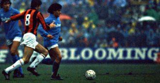 """Ti ricordi… Il gol di testa segnato da Maradona al Milan 32 anni fa. E un bambino scrisse: """"In fin dei conti i miracoli li ha fatti"""""""