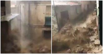 Maltempo in Sardegna, a Bitti tre vittime: la violenza dell'acqua nelle strade del Nuorese