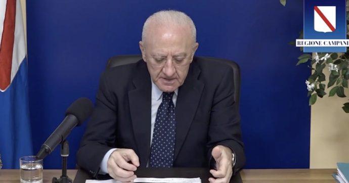 """Vincenzo De Luca: """"Quel conduttore esaltato a Napoli l'avremmo ricoverato per coma etilico al Cardarelli"""""""