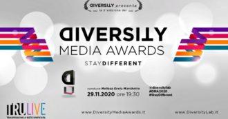 Diversity Media Awards 2020: stampa e personaggi dello spettacolo contro le discriminazioni. Rivedi la diretta